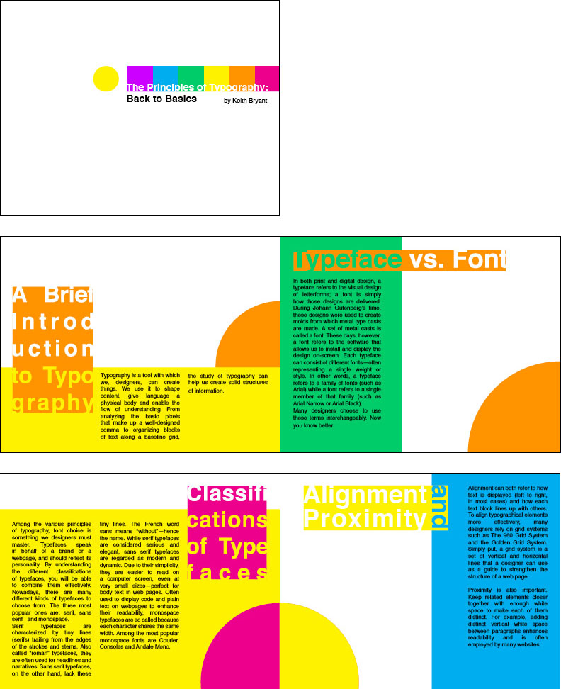 Graphic design christina lee designs for Typography brochure design